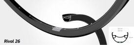 Shimano Deore Ryde Rival 26 Disc Laufradsatz schwarz MTB 29 15-QR
