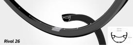 Shimano Deore XT Ryde Rival 26 Disc Laufradsatz schwarz MTB 29 110-148